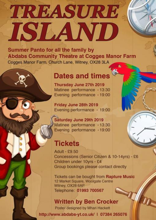 Summer Panto - Treasure Island | OxOnArts info