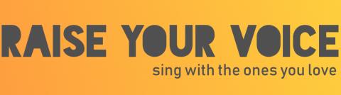 Raise your voice logo banner
