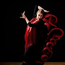 Flamenco dancer Amanda Frescuro of Flamenco Loco dance group