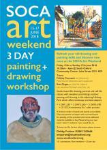 SOCA Art Weekend poster