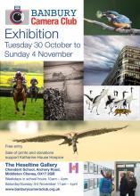 Flyer for Banbury Camera Club Exhibition