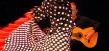 Flamenco dancer with Flamenco guitarist