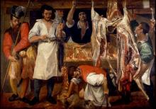 The Butcher's Shop by Annibale Caracci