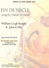 Fin De Siécle - Songs by Mahler and Fauré