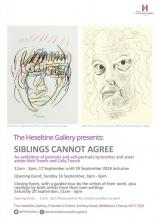 Siblings Cannot Agree exhibition poster