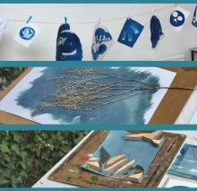 Cyanotype image making process
