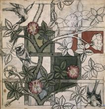 William Morris and Philip Webb, Design for Trellis Wallpaper, 1862 © William Morris Gallery, London Borough of Waltham Forest