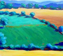 Green Field, acrylic