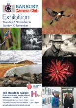 Banbury Camera Club Exhibition poster with images