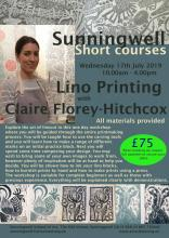 Lino Printing with Claire Florey-Hitchcox