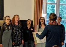 Grace Notes Women's Chorus perform at the Abbey