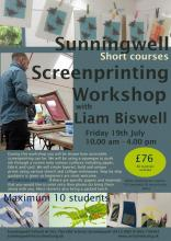 Screenprinting Workshop with Liam Biswell