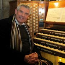 Michael Overbury at the organ