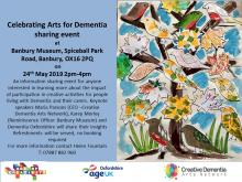 Poster for Celebrating Arts for Dementia event