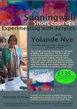 Experimenting with Acrylics (Seascape and Landscape) with Yolande Nye