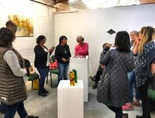 Magdalen Road Studios - Artist Salon - People observing art