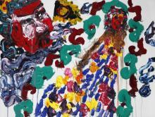 Ladybird's Garden 3, 2018, oil on canvas, 92 x 122 cm