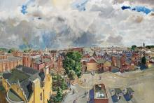 Banbury townscape by Kenneth Moore c1979