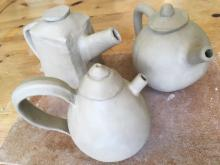 Teapots in the making