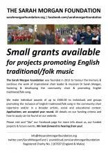 Sarah Morgan Foundation: £500 grant awards available