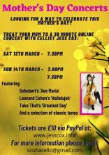 Mother's Day Concerts - 13th & 14th March 2021