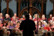 East Oxford Community Choir and Orchestra, plus Interlude from France, under the direction of James Longstaffe