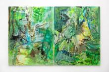 Francesca Mollett, Wild Shade, Oil and acrylic on calico, 130 x 200 cm, Image copyright of the artist